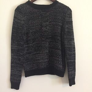 Banana Republic Black and White Speckled Sweater